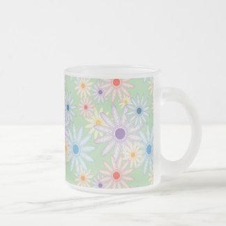 Flower Garden Frosted Glass Mug