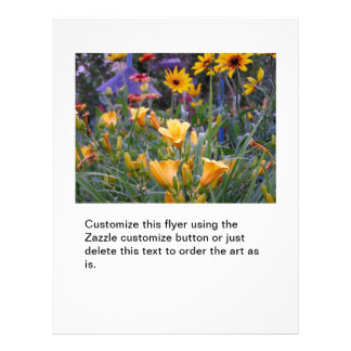 Flower garden fun colorful pretty gardening photo personalized flyer