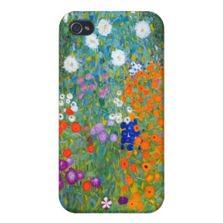 Flower Garden, Gustav Klimt iPhone 4 Covers
