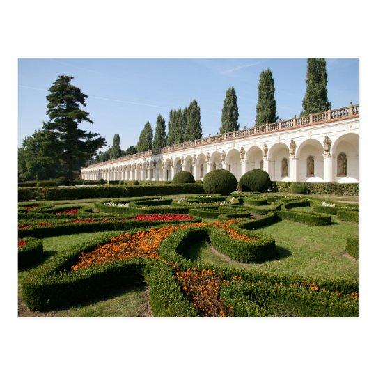 Flower garden, Kroměříž - Czech Republic Postcard