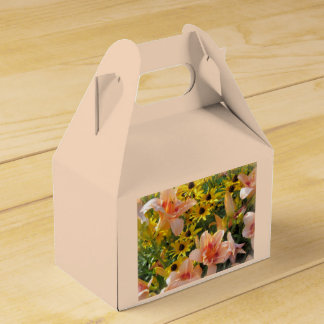 Flower Garden Lilies and Cone Flowers Favour Box
