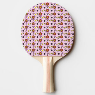 Flower Garden - On Pink Ping-Pong Paddle