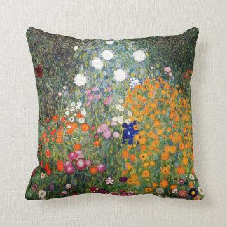 Flower garden painting Gustav Klimt Cushion
