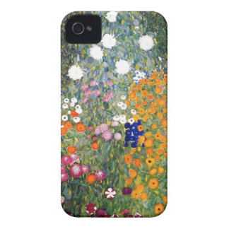 Flower garden painting Gustav Klimt iPhone 4 Case-Mate Cases