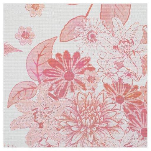 Flower Garden Pale Pink FTDP Fabric