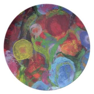 Flower Garden Party Plate