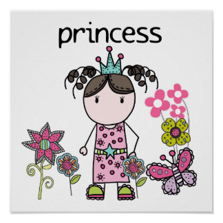 Flower Garden Princess Print