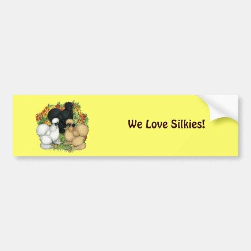 Flower Garden Silkies Bumper Sticker