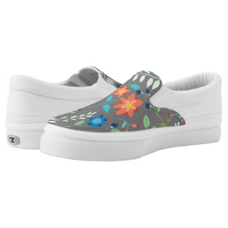"""Flower Garden"" Slip Ons Printed Shoes"