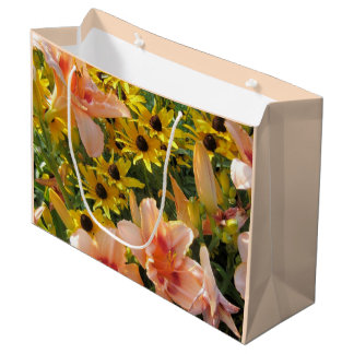 Flower Garden Summer Flowers Large Gift Bag