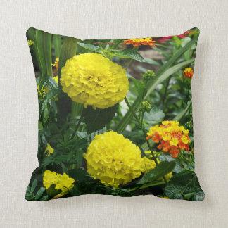 Flower Garden Throw Pillow Cushion