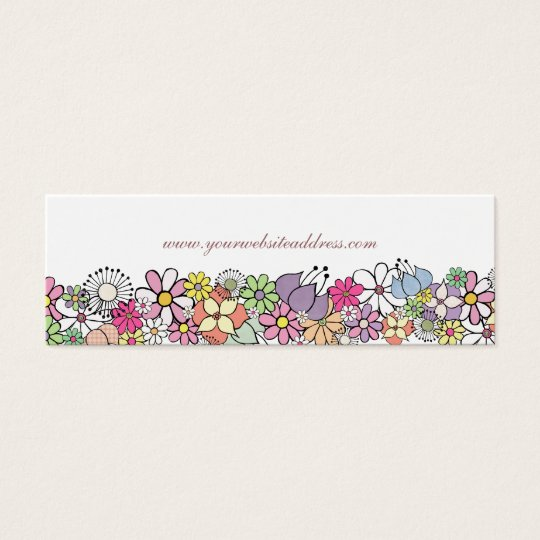 Flower Garden White Skinny Business Profile Card