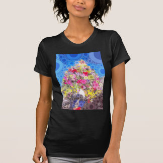 Flower garland 60s-style shirt