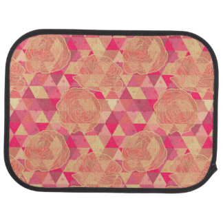 Flower geometrical pattern car mat