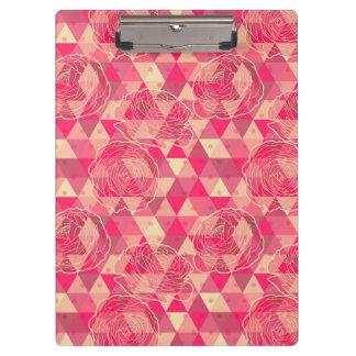 Flower geometrical pattern clipboard