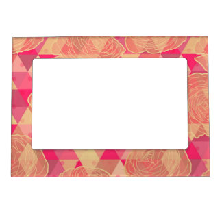 Flower geometrical pattern magnetic frame