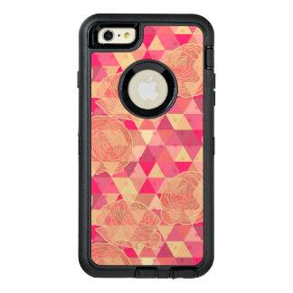 Flower geometrical pattern OtterBox defender iPhone case
