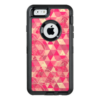 Flower geometrical pattern OtterBox defender iPhone case