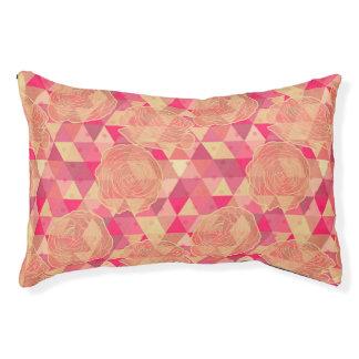 Flower geometrical pattern pet bed