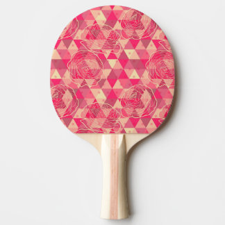 Flower geometrical pattern ping pong paddle