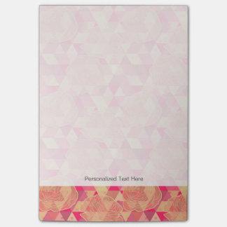 Flower geometrical pattern post-it notes