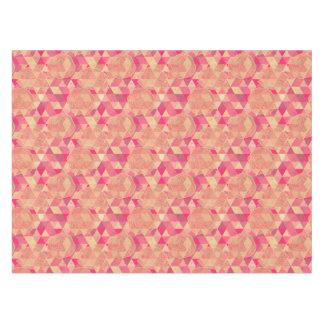 Flower geometrical pattern tablecloth