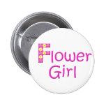 flower girl 6 cm round badge