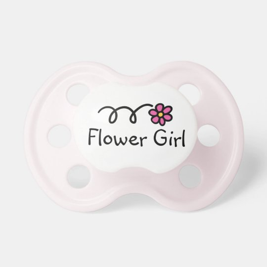 Flower girl baby pacifier | Girly pink daisy