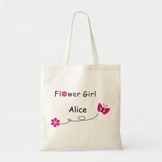 Flower Girl bag-butterfly Tote Bag