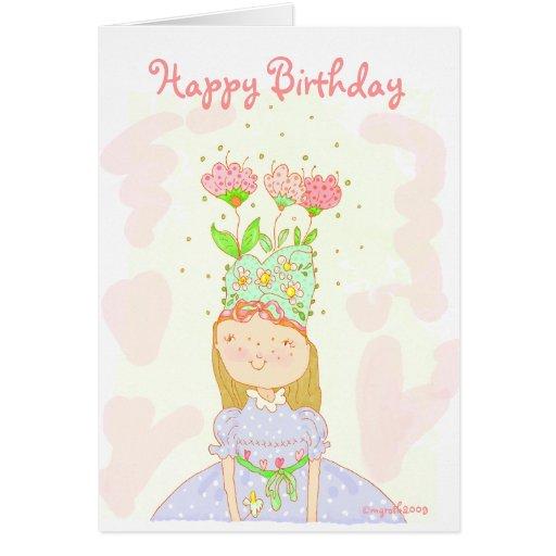 Flower girl birthday card
