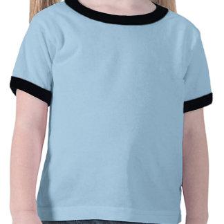 Flower Girl Black on Blue Shirts