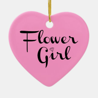 Flower Girl Black on Pink Christmas Ornaments