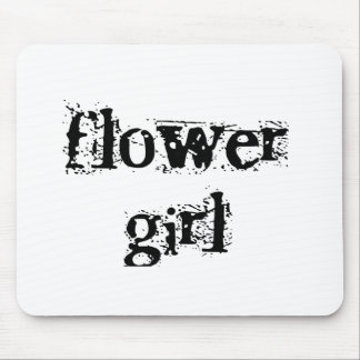 Flower Girl Black Text Mouse Pad