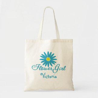 Flower Girl Blue Daisy Tote Bag