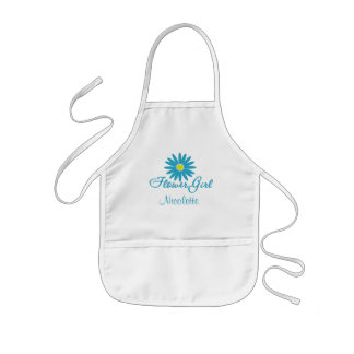 Flower Girl/ Blue Daisy Kids Apron