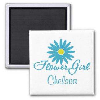 Flower Girl/ Blue Daisy Magnet