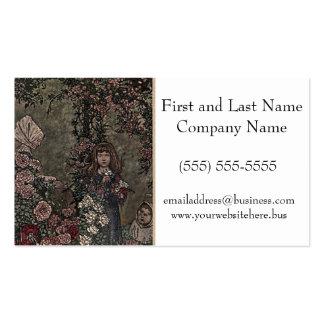 Flower Girl Briar Rose Princess Fairy Tale Garden Pack Of Standard Business Cards