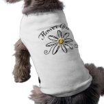 Flower Girl Bridal Party Sleeveless Dog Shirt