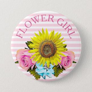 Flower Girl bridal shower button