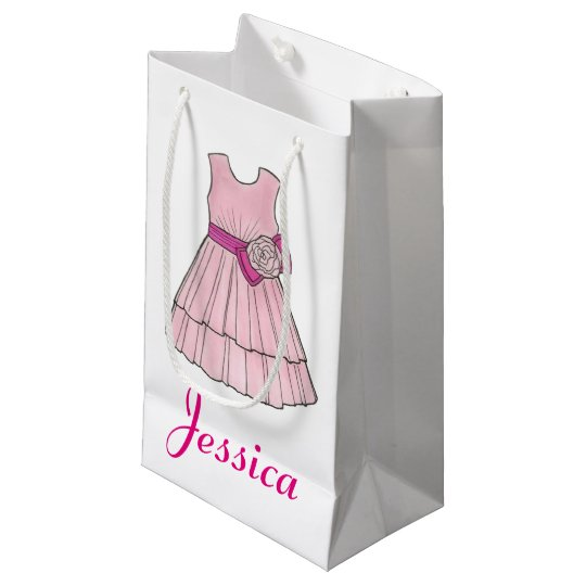 Flower Girl Bridal Wedding Pink Dress Gift Bag