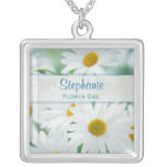 Flower Girl - Bridesmaids - Daisy Wedding Necklace