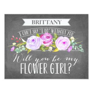Flower Girl Card | Bridesmaid 11 Cm X 14 Cm Invitation Card