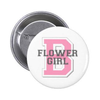 Flower Girl Cheer 6 Cm Round Badge