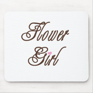 Flower Girl Classy Browns Mouse Pads