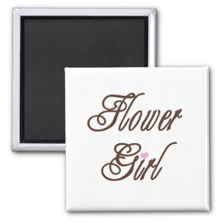 Flower Girl Classy Browns Square Magnet