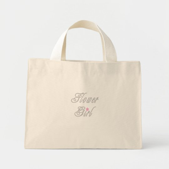 Flower Girl Classy Greys Mini Tote Bag