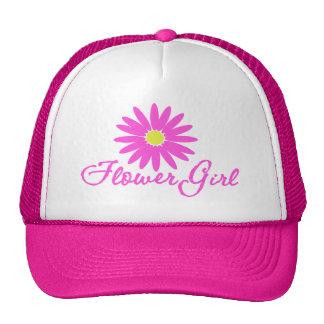 Flower Girl Daisy/ Pink Mesh Hats