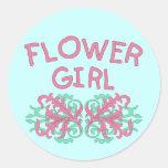 Flower Girl Design #2 Round Stickers