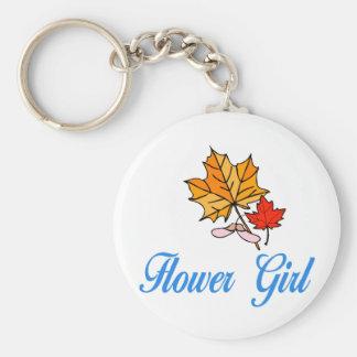 Flower Girl - fall Key Chain