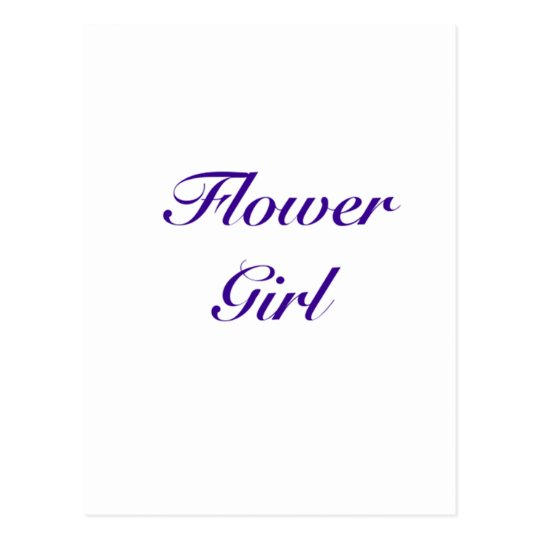 flower girl gear postcard